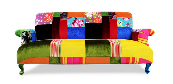 Elegant classic spanish style 3 seat patchwork sofa bf11 for Furniture 08081