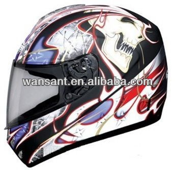 2016 good quality dot standards full face helmet with decals