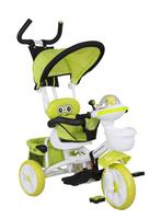 The babies toy tricycles with single seat, sunshade,plastic toy kids trike animal head shape tricycle pedal bike