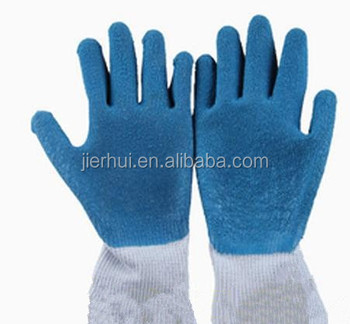 10G cotton latex palm coated sandy finished work gloves