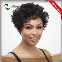 full lace human hair wigs for black women iron friendly indian curly hair wig