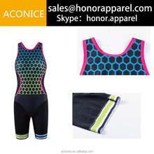 Best lycra fabric team wholesale free design sublimation printing custom made sleeveless triathlon suit