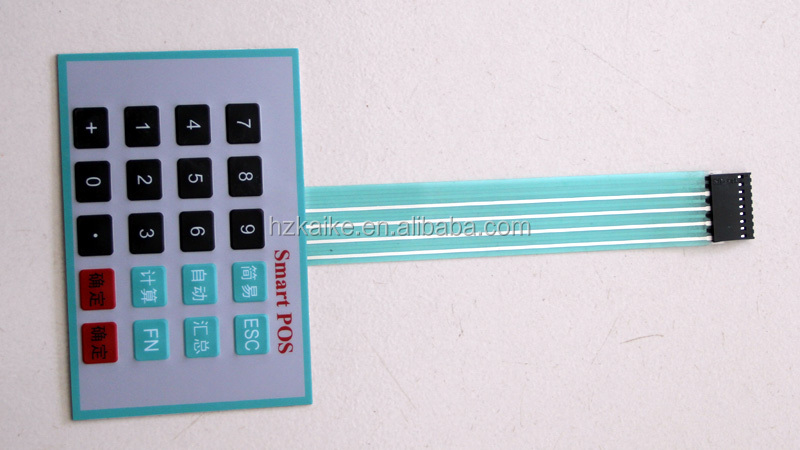 OEM superior membrane switch with silicone rubber keypad