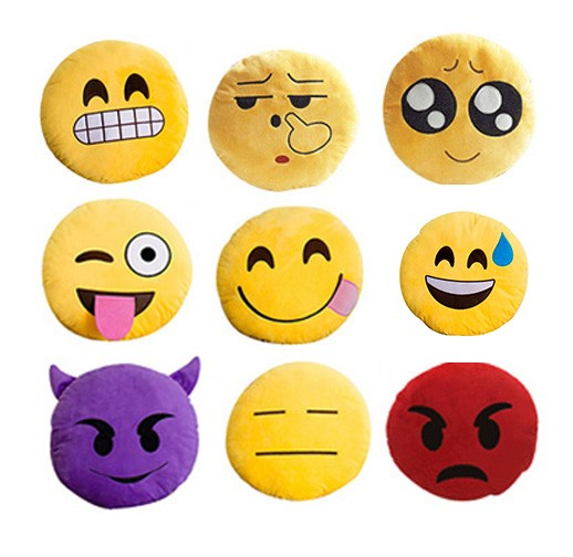 Custom Made Custom Plush Emoji Pillows For Sale