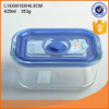 High quality glass preservation box with plastic lid