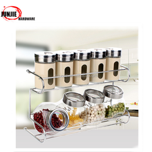 Kitchen accesories Kitchen tools cooking tools bamboo spice jar racks
