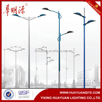 double arm street light pole parts and specifications