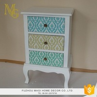 Countryside style antique shabby chic multi drawer cabinet wooden