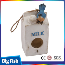 Big Fish Milk Bottle Shaped Resin Birdhouse Box
