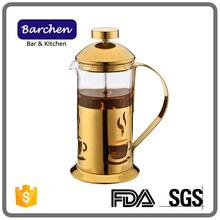 1000ml Heat-resistant Golden Glass French Press coffee Maker