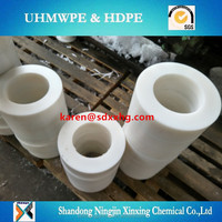 uhmwpe wearing resist parts/gear/roller/wheel/rail & pulley/ bearing/UHMWPE plastic low friction pulley manufacturer