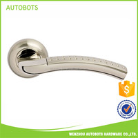 Mid East Latest model Chinese factory solid wood hotel house exterior double entrance main door handle new design