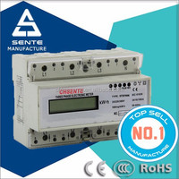 DTS7666 type three phase electronic watt-hour 3 phase 4 wire energy meter connection