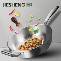 Cast iron cheap stainless steel frying pan 304 cookware with handle