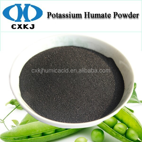 100% Water Solubility Potassium Humate As Irrigation Fertilizer