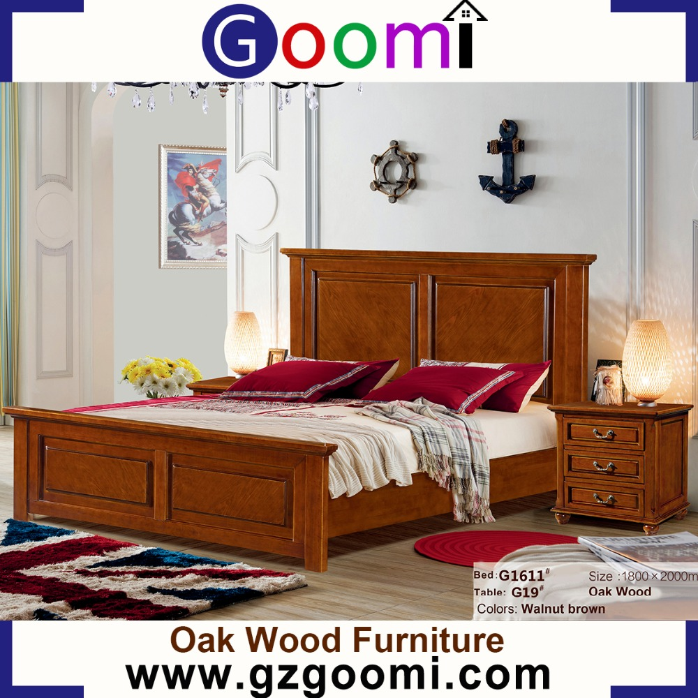 Goomi Home Bedroom American Style G1611# bed oak solid pine wood furniture