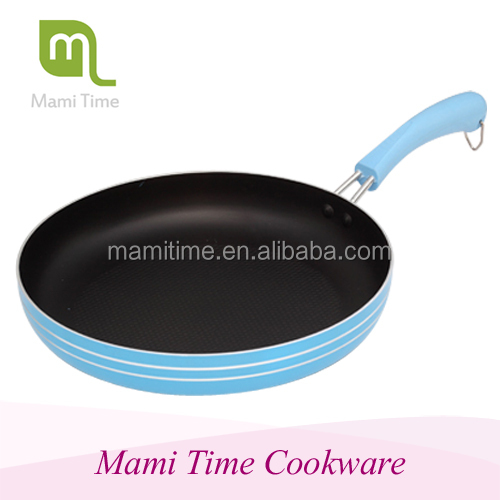 Metal fiber burner long handle large non stick fry pan
