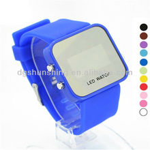 Promotions! high quality silicone rubber band digital wrist watch
