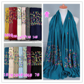 Wholesale cotton embroidery hijab shawls muslim scarves/scarf GBS184