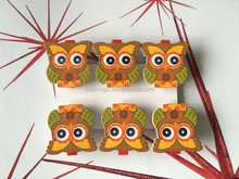 wooden decoration wooden pegs,decoration clips owls pegs gifts