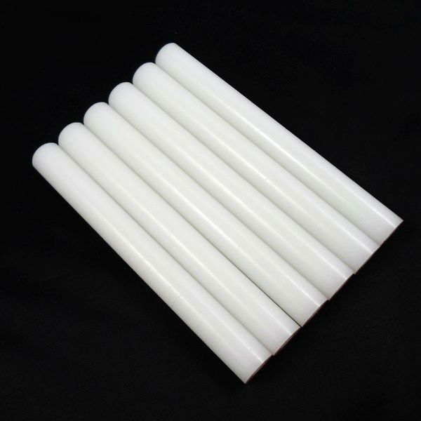 Plastic POM rod, tube circle, dia10.0mm*L60.0mm, white