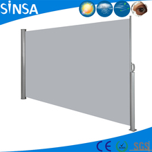 Retractable Folding Vertical Wind Screen Privacy Divider Side Awning with Steel Pole