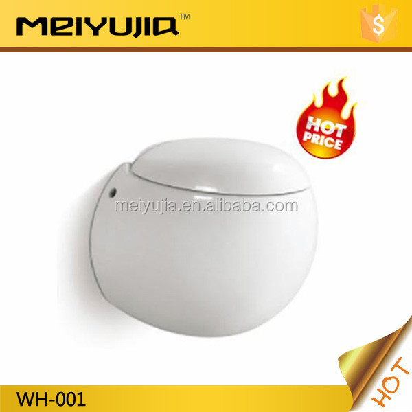 Round bathroom washdown wall mounted P trap toilet