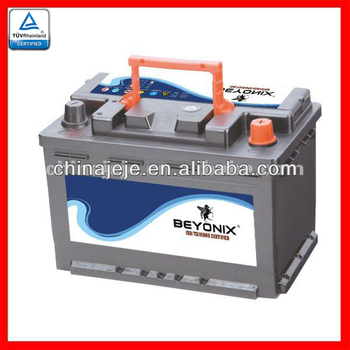 Hot Export High Quality Sealed Maintenance Free Car Batteries MF56618 12V66AH