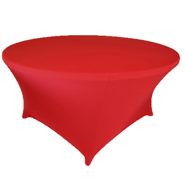 Finally manufacturer producing round polyester speech table cloth