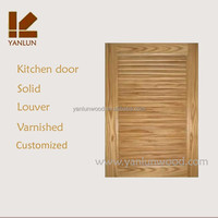 American hot sale solid pine wood kitchen cabinet simple louver door designs