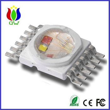 6 in 1 12W RGBWYV high power led diode