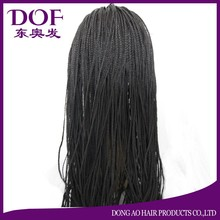 hand-tied 350 micro braided hair 24 inches lace front wigs cheap African American braided wigs