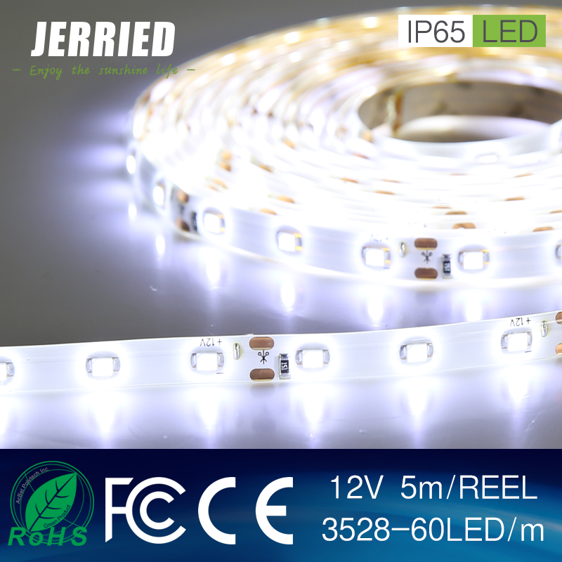 DC12v smd 3528 4.8w/m led strip light 60leds IP65 with CE ROHS Factory Price