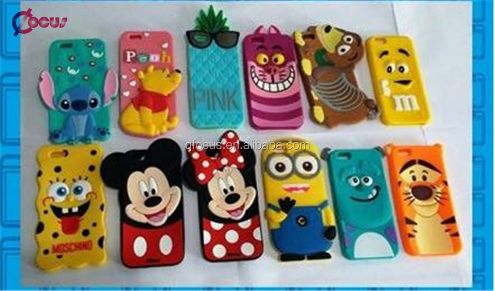 3D silicone phone case cute cartoon Animal silicone phone case for iphone 7/7plus/6s/6/6 plus