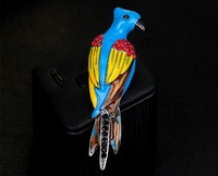 High Quanlity Cute Animal Woodpecker Shaped Alloy Cute Women Fashion Brooch