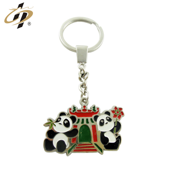 Custom die struck metal zinc alloy soft enamel animal car keychain