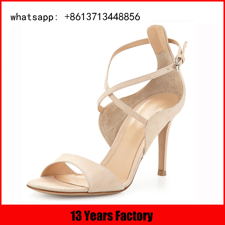 China wholesale factory sex atest design high heel cross strap buckle female sandals