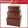 NAHAM Wine Cardboard Paper Storage Box Set of 3 With Wood Grain