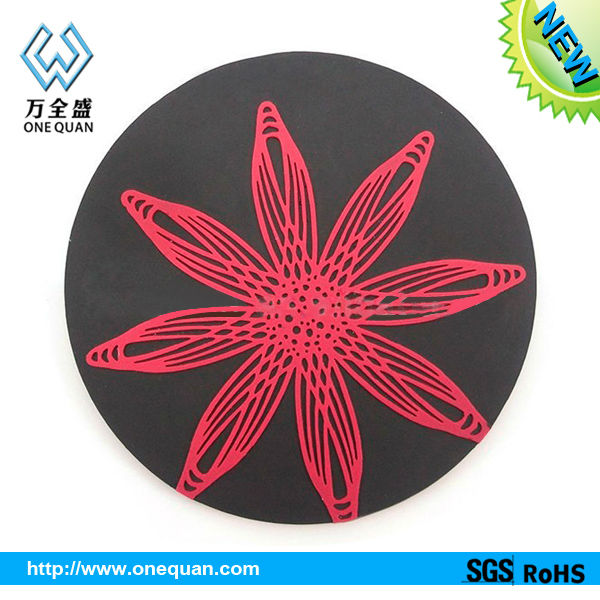 silica gel cup pads,heat-proof pad,silicone wine coaster