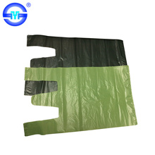Biodegradable plastic vest cheap white clear t-shirt packing bag