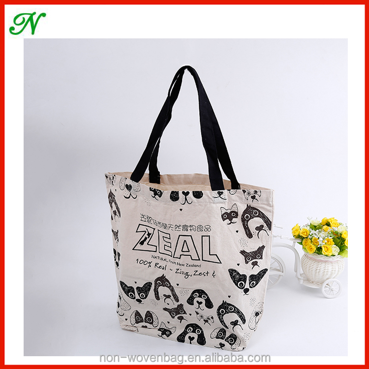 Fashion Cotton/Canvas Lovely Shopping Tote Bag