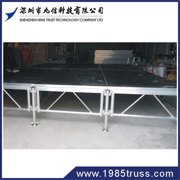 Customized stage podium, glass stage, plywood stage floor for big show/concert