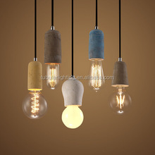 Hanging concrete shade /concrete pendant lamp modern color Industrial cement concrete light