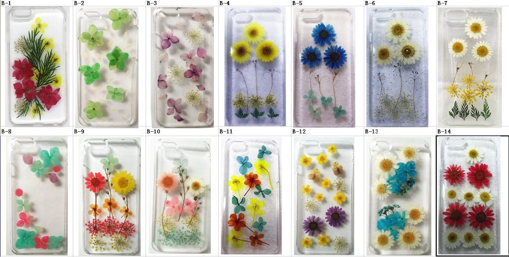 With real flower epoxy clear case for iPhone 6s selfie