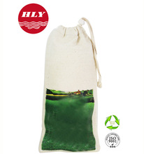 Wholesales Promotional Cotton Fabric Drawstring bag For Bottle