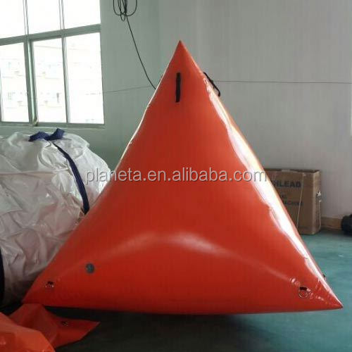 orange color inflatable marker buoys for water event