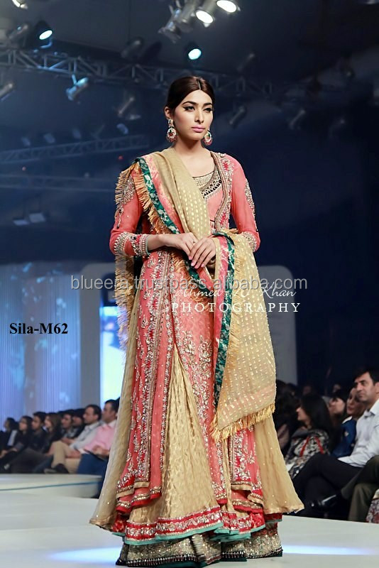 Embroidered double frock style with lenga bridal dress BE-M62