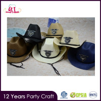 2016 New Cheap Plain Wholesale Summer Straw Cowboy Hat