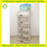 custom floor natural pos wood retail store display stand for coconut water or beverage drinking