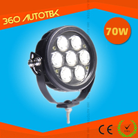 Hotsale 24v led work light 70W 7inch IP67 Wireless remote control LED work light for trucks/auto